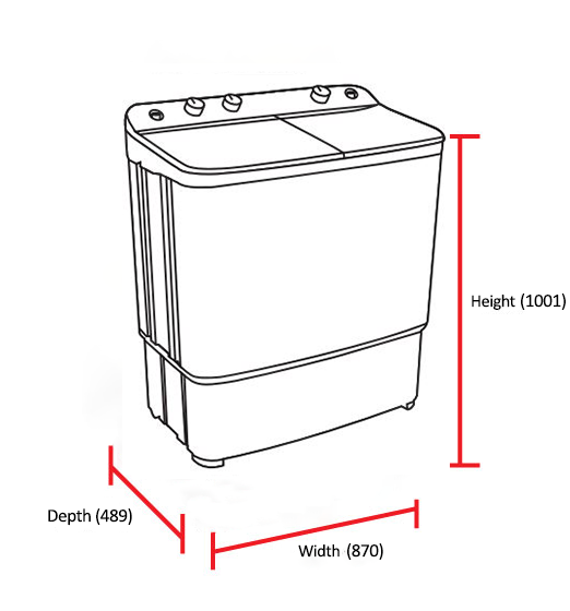 Dawlance Twin Tub Washing Machine DW7500 W 6