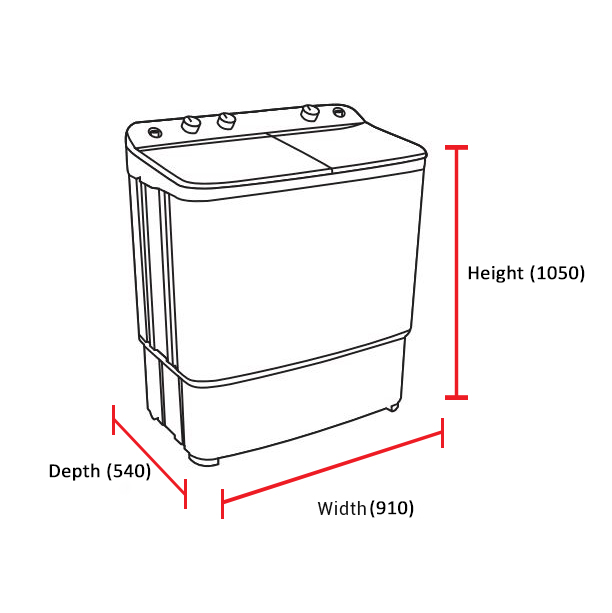 Dawlance Twin Tub Semi-Automatic Washing Machine 10500TWIN 8