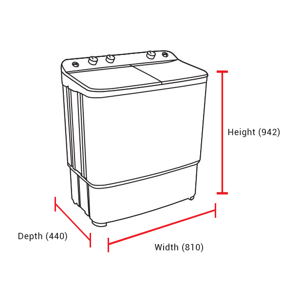 Dawlance 7 Kg Twin Tub Washing Machine DW-6500Twin 2